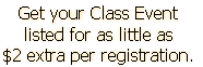 Get your Class Event